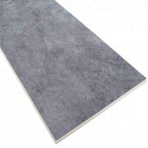 Waterproof Durable Dark Grey Coral Pattern SPC Click Flooring Tile