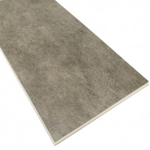 Waterproof Light Grey Color Stone Pattern SPC Flooring Tile